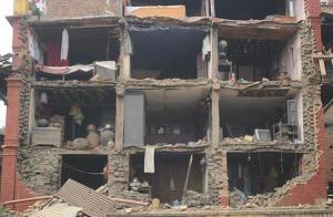 zerstörtes Haus
